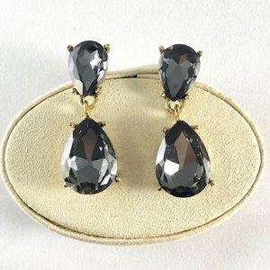 Jewelry - Gray Crystal Drop Earrings